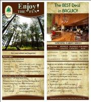 Rainy Days Promo at The Forest Lodge Baguio